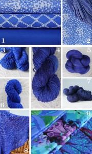 Indigo is considered a 'true blue'. This image comes from Eweknit.ca